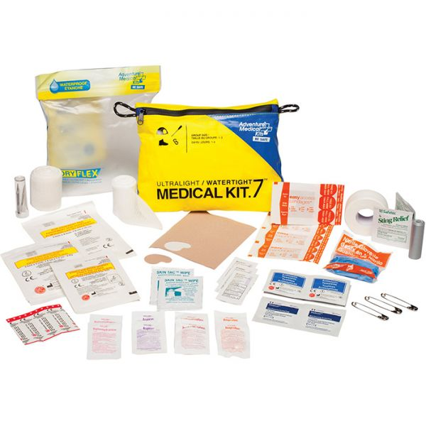 ultralight and watertight medical kit .7 for 1-2 people, 1-4 days.