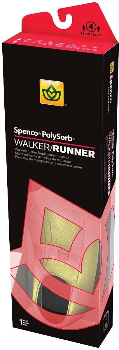 Spenco walk/run insole packaging