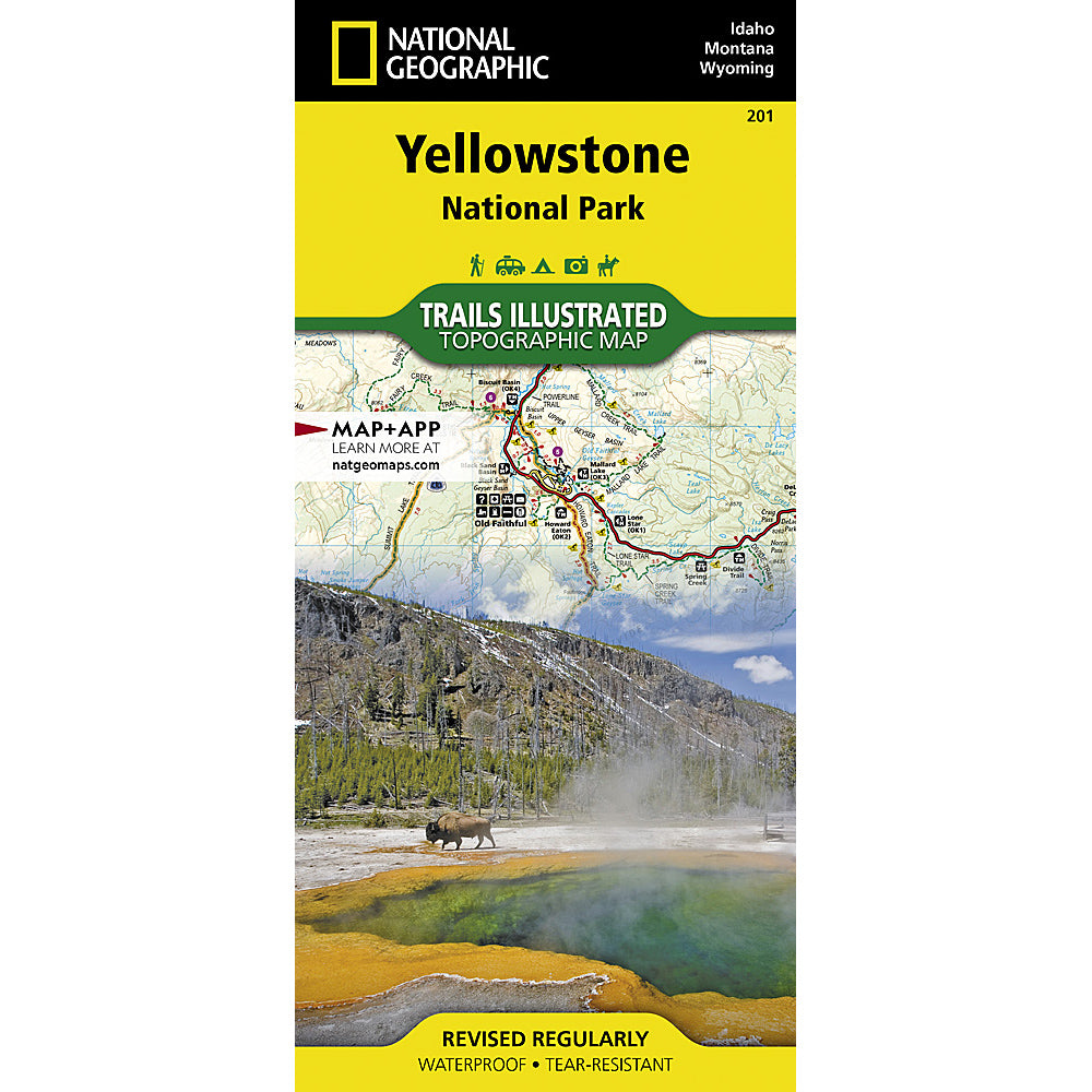 national geographic maps yellowstone national park