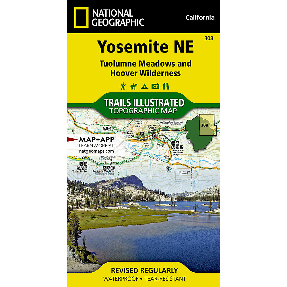 national geographic maps yosemite NE
