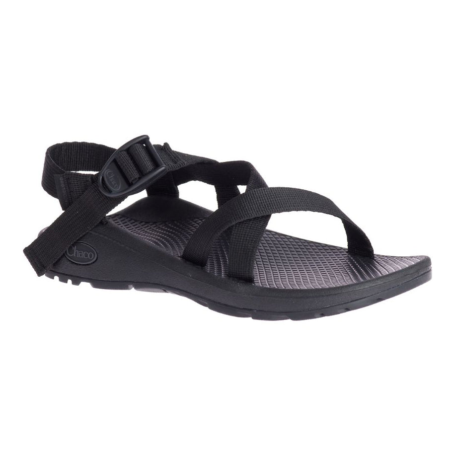 chacos z cloud sandals womens in black three quarter view