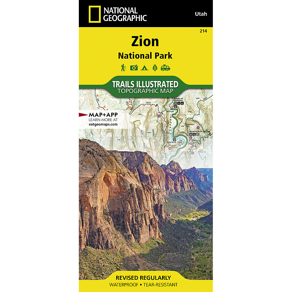 national geographic maps zion national park