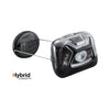 The petzl zipka headlamp, black, side view