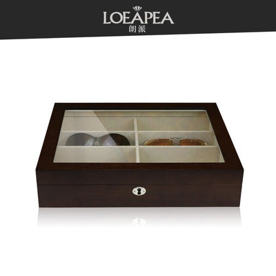 Wooden Glasses box 12 Sunglasses storage box Top window for Women glasses packing box Home collection /Birthday gift - Watch Safe