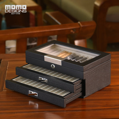 Wooden pen box 12/24/36/60pcs Pens showcase Pencil Packaging display Wood box - Best Watch Safe