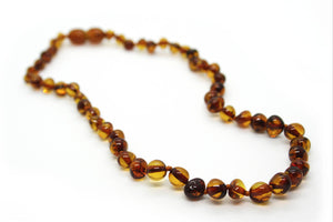 Baltic Amber Baby Beads (Cognac)