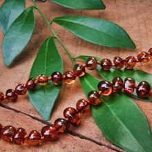 Load image into Gallery viewer, Baltic Amber Baby Beads (Cognac)