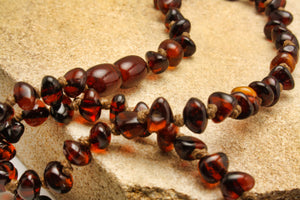Cognac Baltic Amber Beads Necklace