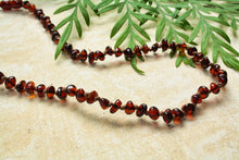 Load image into Gallery viewer, Cognac Baltic Amber Beads Necklace