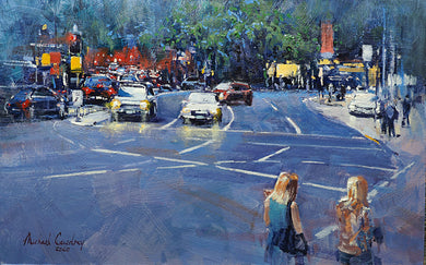 At A Standstill On Creek Street by Michael Cawdrey