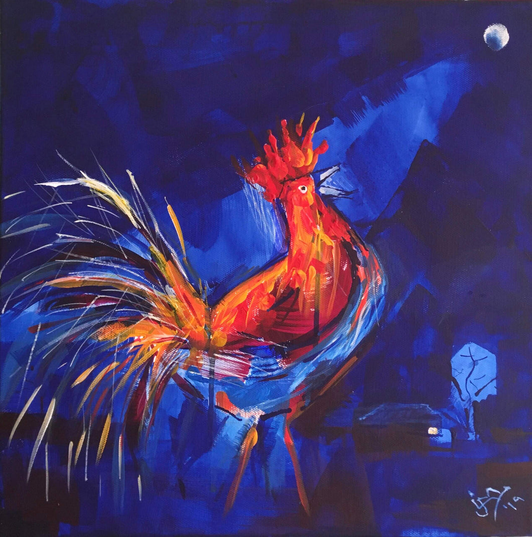 The Cock That Howled At The Moon by Jenny Mounfield