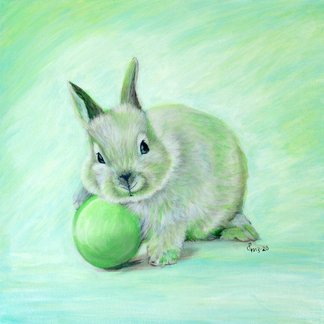 Easter Bunny Green by Priya Gore