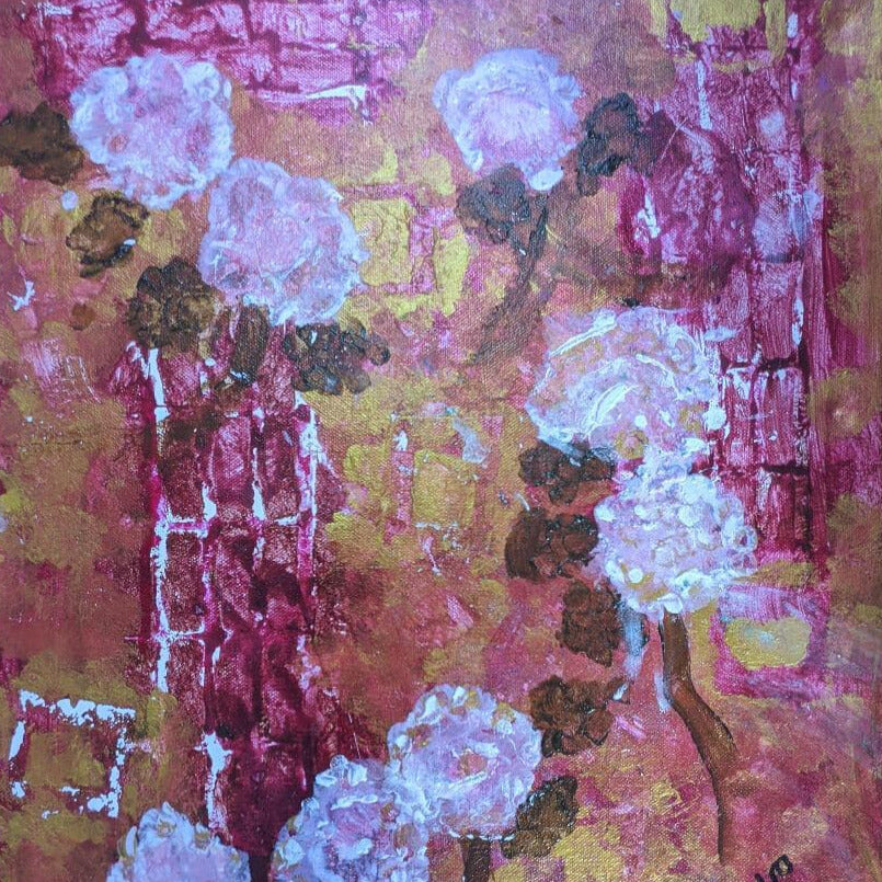 Floral Garden Wall by Debbie Chilton