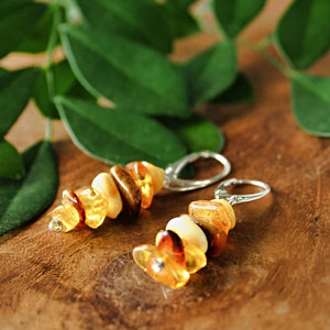 Baltic Amber Chips Earrings