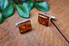 Load image into Gallery viewer, Cognac Baltic Amber Cufflinks