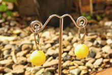 Load image into Gallery viewer, Butterscotch Baltic Amber Orb Drop Earrings