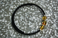 Load image into Gallery viewer, Golden Honey Baltic Amber Beads on Felt Bracelet