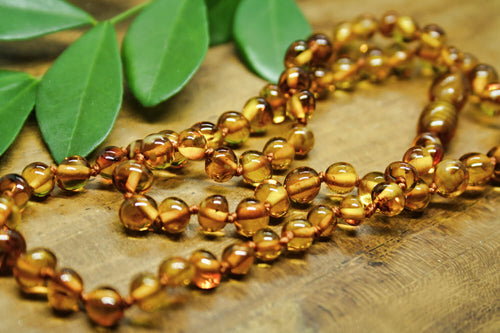 Honey Baltic Amber Beads Necklace