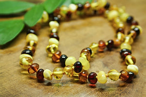 Mixed Baltic Amber Beads Necklace