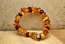 Load image into Gallery viewer, Multi Baltic Amber Bracelet on Elastic