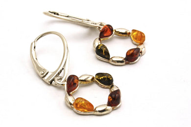 Mixed Baltic Amber Ring Earrings