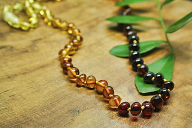 Ombre Baltic Amber Beads Necklace