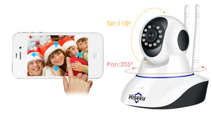 Hiseeu 1080P 1536P IP Camera Wireless Home Security Camera Surveillance Camera Wifi Night Vision CCTV Camera 2mp Baby Monitor