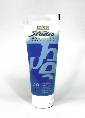 831049 PRIMARY CYAN 100ML ACRYLIC PAINT