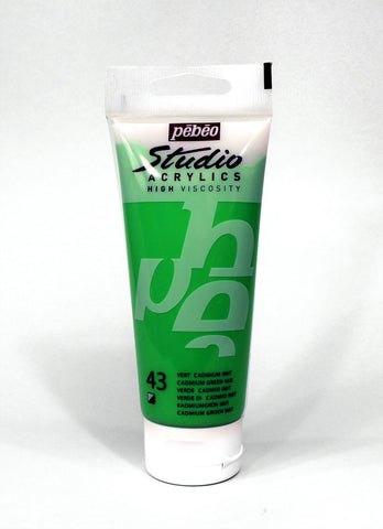 831043 CADMIUM GREEN HUE 100ML ACRYLIC PAINT