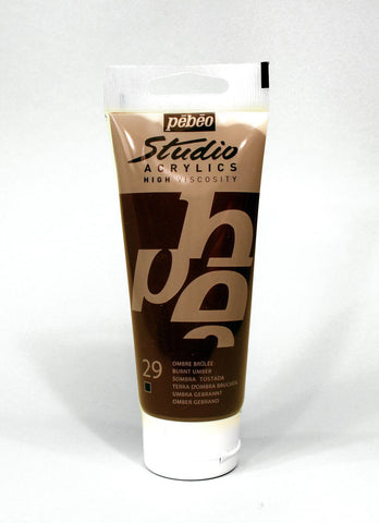831029 BURNT UMBER 100ML ACRYLIC PAINT