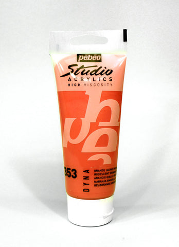 832353 IRIDESCENT ORANGE YELLOW 100ML ACRYLIC PAINT