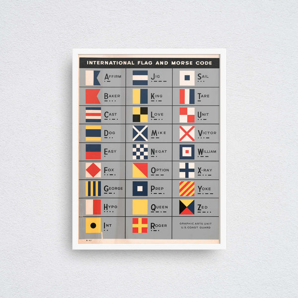 International Flag and Morse Code