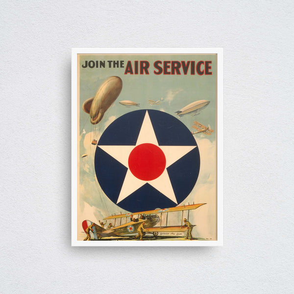join the air service poster wall art print framed
