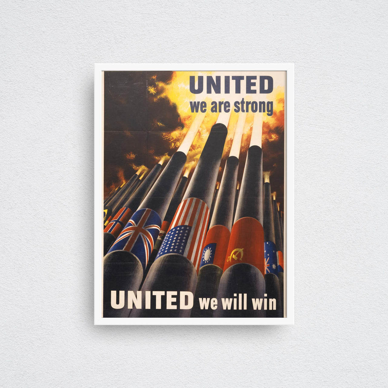 united we will win poster wall art print framed