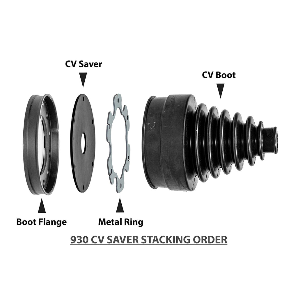 930 CV Single Boot Flange | CV Saver 2 Pack
