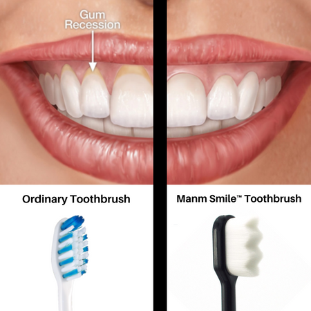 Comparison between nano soft toothbrush and ordinary toothbrush