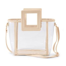 Clear Square Handle Tote