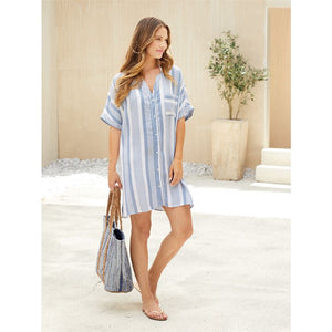 Tanner Striped Coverup