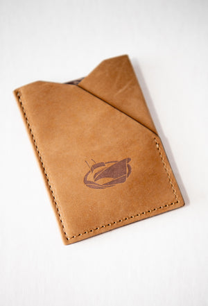 Jarrett Bay Embossed Slim Front Pocket Leather Wallet