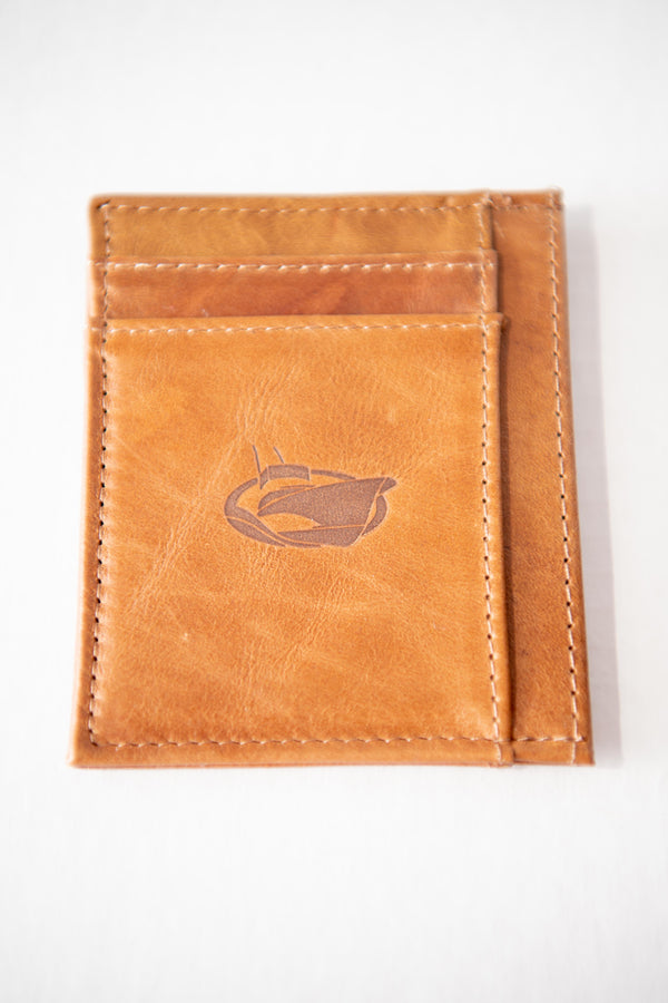 Jarrett Bay Embossed Front Pocket Leather Wallet