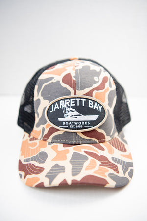 Line Draw Camo Trucker Hat