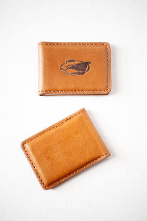 Jarrett Bay Embossed Leather Money Clip