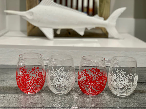 CORAL STEMLESS WINE GLASS