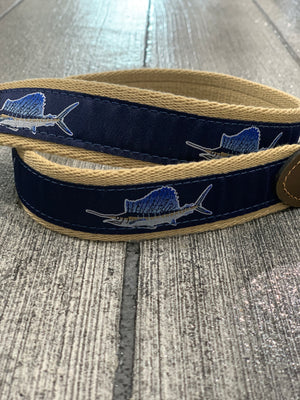 Sailfish Navy Ribbon Belt