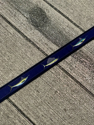 RIBBON GRANDSLAM NAVY BELT