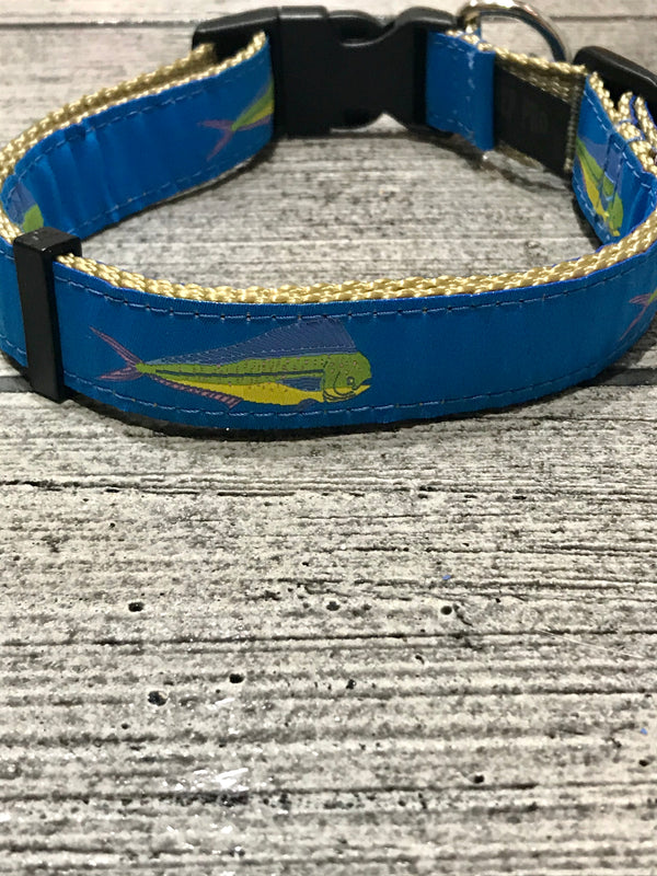 Dolphin Ribbon Dog Collar