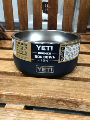 Yeti Boomer 4 Dog Bowl Navy