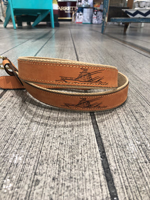 SPORTFISHER LEATHER BELT