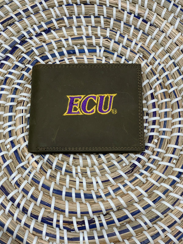 ECU bi fold leather wallet