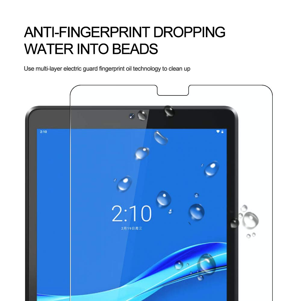 WRJ Screen Protector for Lenovo Tab M10 Plus FHD 10.3 inch,HD Anti-Scratch Anti-Fingerprint No-Bubble 9H Hardness Tempered Glass 2-Pack